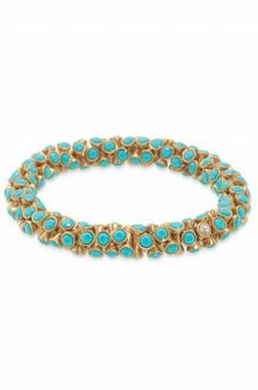 Stella & Dot Vintage Twist Bracelet - I have this in teal, but may need in coral or sliver/black as well!