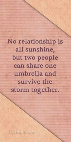 I want to share an umbrella with that one special person.