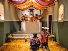 Reprodução de uma capela mexicana, em exposição no Museu de Antropologia da Cidade do México.