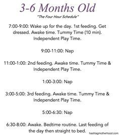 Birth to 6 Months Baby Schedule - Hashtag Motherhood. 3-6 month old schedule