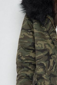 Hooded parkas jacka - Peaky Svart - Jackor - Kläder