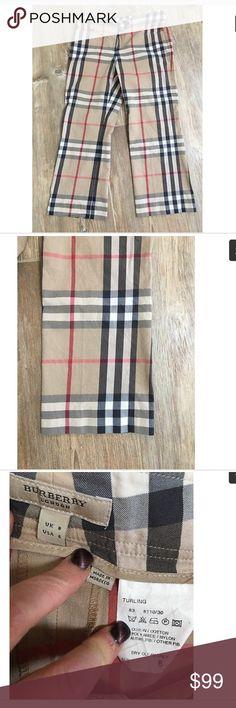 "Authentic Burberry cropped capris trousers 6 No flaws 31"" waist 24"" inseam 9"" rise Burberry Pants Capris"
