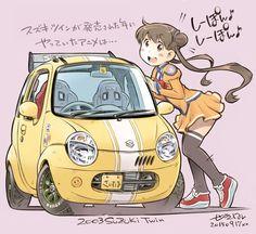 「2003年のクルマとアニメ」/「せきはん」のイラスト [pixiv]