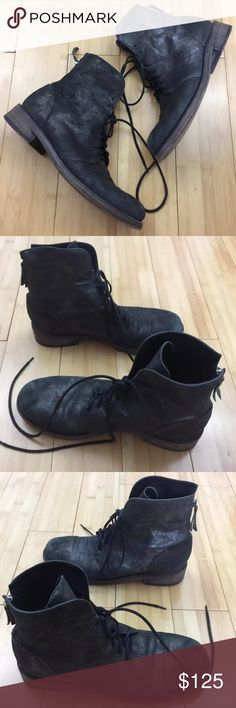 Fabulous & Rare Vic Matiē Black Silver Boots  Excellent used condition! Beautiful chic booties, authentic Vic Matie Size 38.5 made in italy, matches size US 8.5. This boots are combat style, lace up with back zipper, super fashion and comfortable    A23 Vic Matie Shoes