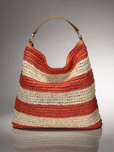 Talbots - Paper Straw Stripe Hobo   Handbags  