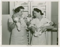 Wow look at how the nurse is holding the baby. Coney Island baby incubator side show