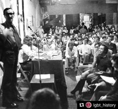 #Repost @lgbt_history with @repostapp  Look goddamnit Im homosexual and I am sick and tired of reading and hearing such goddamn demeaning degrading bullshit about me and my friends.  Merle Miller On Being Different May 1971. Picture: Miller addresses members of the Gay Activists Alliance (including Arthur Evans Morty Manford Jim Owles and Vito Russo (front row center)) Greenwich Village 1971. Photo by Grey Villet c/o @nytimes. In September 1970 Harpers Magazine published Joseph Epsteins…