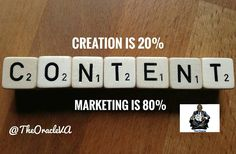 You have heard that content is king right? Great!  Marketing that content is The Kingdom.  No matter how great or awesome content is unless people see it use it and it's of value to them your content would remain worthless.  You must Market it.  Content Creation is 20% of the job the most important 80% left is Content Marketing. : : : As social media Strategists we do this daily so as to help you sell your products and services. We can help you get better results... Send a DM or message on…