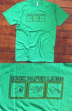 rock PAPER LIONS. band t-shirt <3