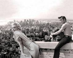 Marilyn Monroe Elvis Presley Vintage Photo - Quality Canvas Art Print A4