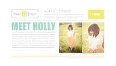 love the clean lines, lots of white, warm images, yellow {of course} and organization - website of Holly Hoyt Photography, designed by Promise Tangeman Blog Design Inspiration, Yearbook Design, Blog Planning, Photography Branding, Blogger Templates, Logo Color, Photography Website, Blogger Themes, Clean Lines