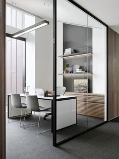 Stunning Home Office Design Ideas And Remodel Make Your Work Comfortable – Modern Corporate Office Design Corporate Office Design, Office Space Design, Workplace Design, Home Office Space, Office Interior Design, Office Interiors, Office Designs, Office Spaces, Small Office