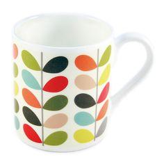 Orla Kiely Mug New Multi Stem £8.95 - Mugs - Orla Kiely Mugs ILLUSTRATED LIVING