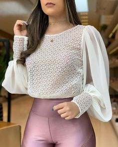 Popper Cuff Mesh Ruched Sleeve Blouse Women's Online Shopping Offering Huge Discounts on Dresses, Lingerie , Jumpsuits , Swimwear, Tops and More. Modest Fashion, Fashion Outfits, Fashion Trends, Womens Fashion, Spiderman Shirt, Look Office, Plus Size Swimsuits, Mode Hijab, Corsage