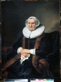 Приписывается: Фердинанд Боль (1616–1680) Ранее приписывалось Rembrandt . Ранее приписывалось Jacob Adriaensz. Backer. Портрет Elisabeth Jacobsdr. Bas (1571-1649)  (около 1642, Государственный музей, Амстердам)