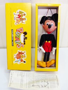 1970's Pelham Puppets Mickey Mouse Marionette