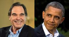 Oliver Stone and President Barack Obama are pictured. | AP Photo