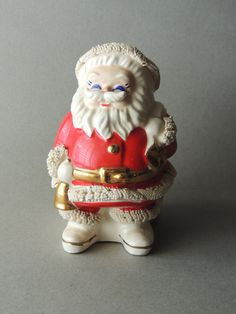 Vintage Santa Bank Vintage Christmas Decor 1950's by nonniesporch