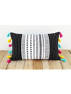Aztec Print Pillow Cover Cotton Pillow Case Tribal Standard Size 12x20 Inches ❤ ...
