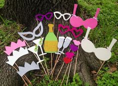 Bachelorette Party Glitter Photo Booth Props