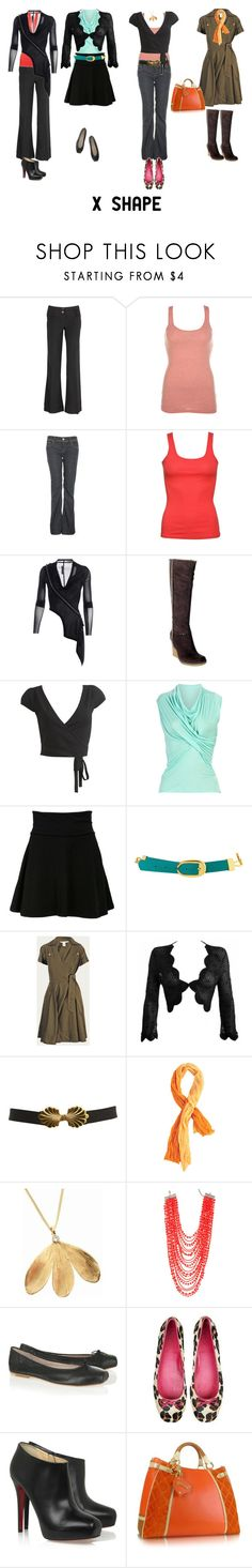 """""""X Shape"""" by imogenl ❤ liked on Polyvore featuring Scoop, A