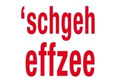 Postkarte: 'schgeh effzee