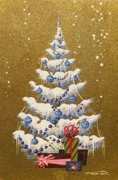 Christmas tree & gifts; Frans Van Lamsweerde