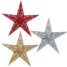 b99267add0d Bulk Christmas House Glitzy Plastic Star Ornaments