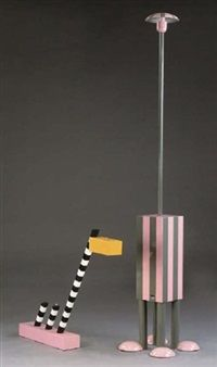 """terminus floorlamp"" by martine bedin - 1981"