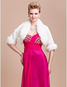Elegant Long Sleeve Faux Fur Evening/ Wedding Jacket/Wrap. Get awesome discounts up to 70% Off at Light in the Box using Coupons.