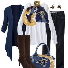 St. Louis Rams Inspired Fall Fashion.