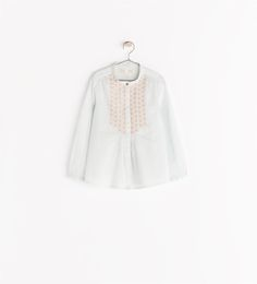 Image 1 of SHIRT WITH LEAF EMBROIDERY from Zara