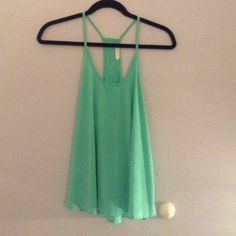 Racerback lush tank Polyester tank! Worn but in great condition! Tops Tank Tops