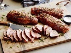 30-Minute Meal: Rachael Ray uses fragrant herbs and balsamic vinegar for these Roasted Pork Tenderloins (Apple Butter Ribs)