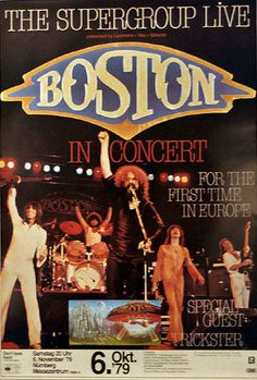 Bruce Dickinson, Playlists, Boston Band, Arena Rock, Rock Band Posters, Classic Rock Bands, Vintage Concert Posters, Concert Flyer, We Will Rock You