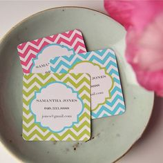Chevron Calling Cards 20 by LetterLoveDesigns on Etsy