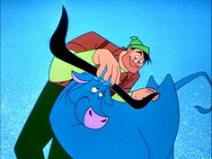 Paul Bunyan and his blue ox Babe- babe was always my favorite character <3