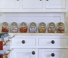 Great idea...  how about candy in the candy jars instead of other foods?