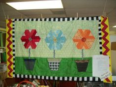 quilt shop calendar    Flower Pot Wall Hanging Quilt Kit and American Patchwork and Quilting ...