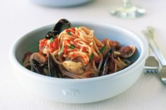 Add all your favourite seafood to this delicious spaghetti marinara.