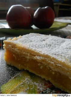 Šťavnaté jablečné řezy Cornbread, French Toast, Cooking Recipes, Apple, Breakfast, Ethnic Recipes, Cakes, Scrappy Quilts, Lemon Tarts