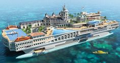 Island Yacht Design $1.1-billion super yacht that takes the fundamentals of the famed Monte Carlo lifestyle to the ocean.