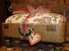 Vintage Pet Bed made from Vintage Luggage by DreamzofVintage, $150.00