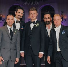 Nick and the guys on his wedding day!