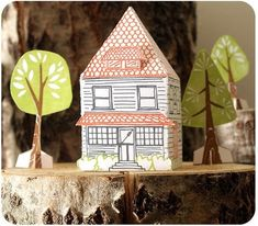 Paper house kit from 1canoe2