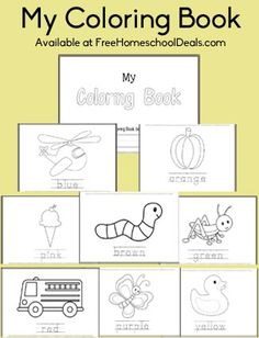 Coloring Pages for Preschool and Early K!