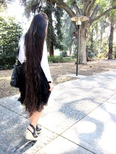 *sigh* I know jealousy is one of the ten commandments (do not want other's things) but when I see beautiful Apostolic hair like this, and note my barely waist (not hip, waist. Look up the true definition of waist length hair) it's hard for me to not be jealous..