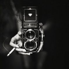 Je Ne Sais Quoi #black #white #photography #camera #cigarette