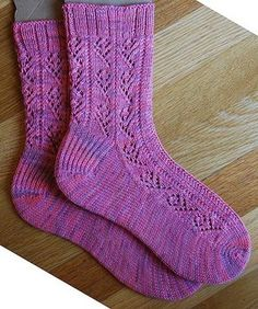 Ravelry: Little Roses pattern by Linda Fisher Crochet Socks, Knitting Socks, Knit Crochet, Knit Socks, Toe Up Socks, My Socks, Ankle Socks, Knitted Booties, Knitted Slippers