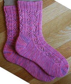Ravelry: Little Roses pattern by Linda Fisher Toe Up Socks, My Socks, Ankle Socks, Crochet Socks, Knitting Socks, Knit Socks, Knitting Patterns Free, Free Knitting, Free Pattern